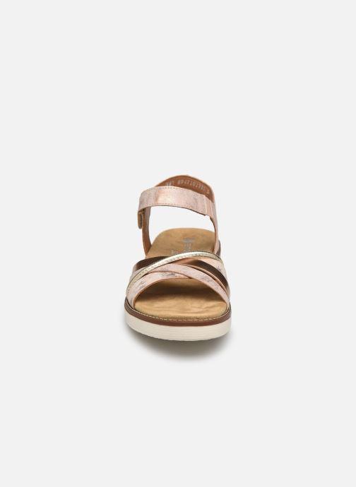 Sandales et nu-pieds Remonte Petre Rose vue portées chaussures
