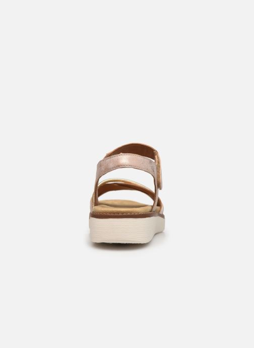 Sandales et nu-pieds Remonte Petre Rose vue droite