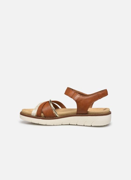 Sandales et nu-pieds Remonte Petre Or et bronze vue face
