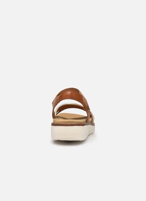 Sandales et nu-pieds Remonte Petre Or et bronze vue droite