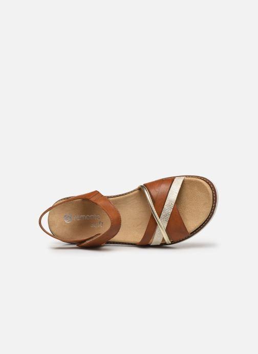 Sandales et nu-pieds Remonte Petre Or et bronze vue gauche