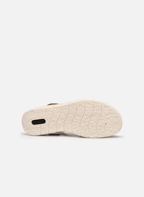 Sandales et nu-pieds Remonte Petre Or et bronze vue haut