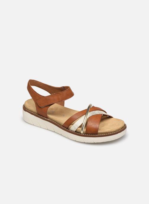 Sandales et nu-pieds Remonte Petre Or et bronze vue détail/paire