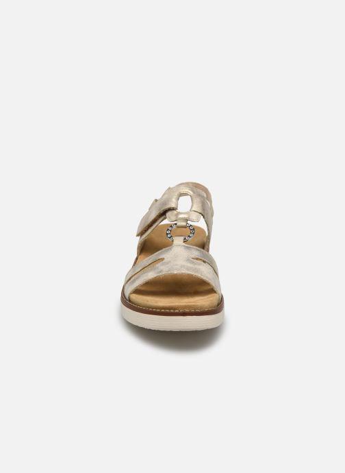 Sandales et nu-pieds Remonte Mihai Or et bronze vue portées chaussures