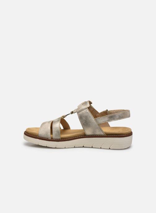 Sandales et nu-pieds Remonte Mihai Or et bronze vue face