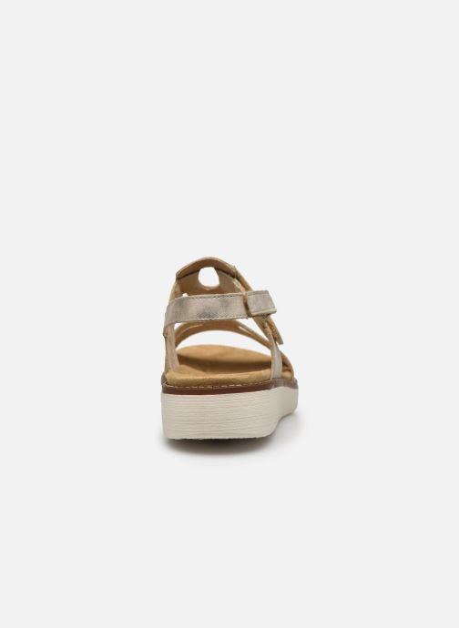 Sandales et nu-pieds Remonte Mihai Or et bronze vue droite