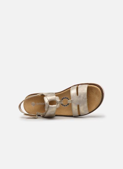 Sandales et nu-pieds Remonte Mihai Or et bronze vue gauche