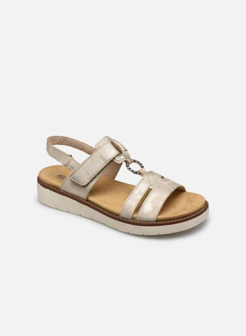 Sandales et nu-pieds Remonte Mihai Or et bronze vue détail/paire