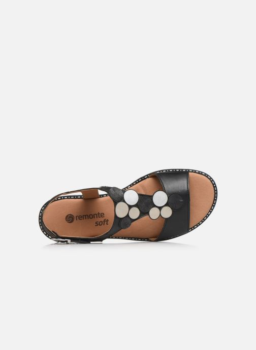 Sandales et nu-pieds Remonte Viorel Noir vue gauche