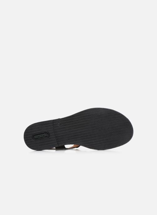 Sandales et nu-pieds Remonte Viorel Noir vue haut