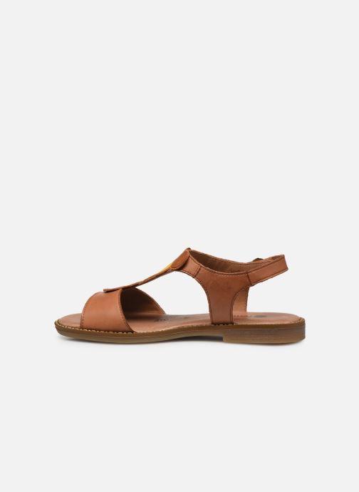 Sandales et nu-pieds Remonte Viorel Marron vue face