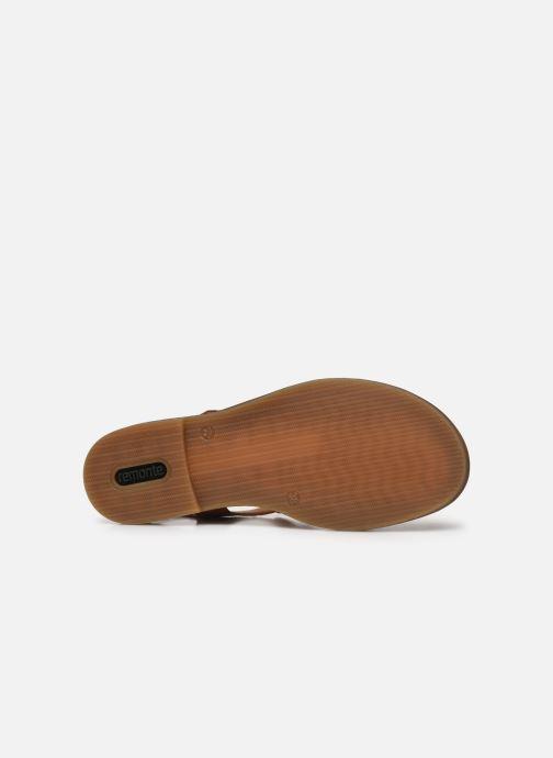 Sandales et nu-pieds Remonte Viorel Marron vue haut