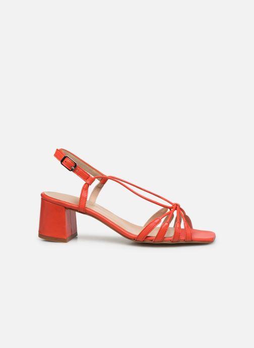 Sandales et nu-pieds Georgia Rose Sapouna Orange vue derrière