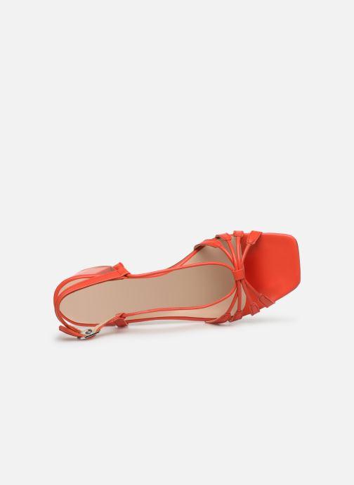 Sandales et nu-pieds Georgia Rose Sapouna Orange vue gauche