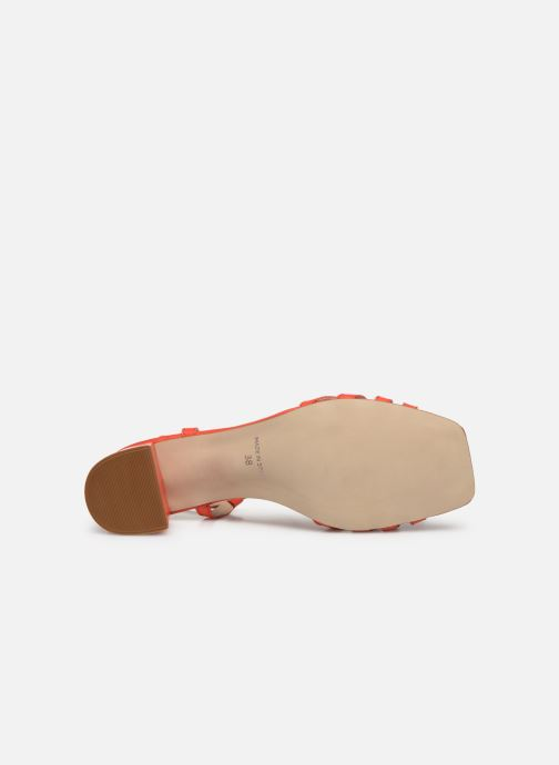 Sandales et nu-pieds Georgia Rose Sapouna Orange vue haut