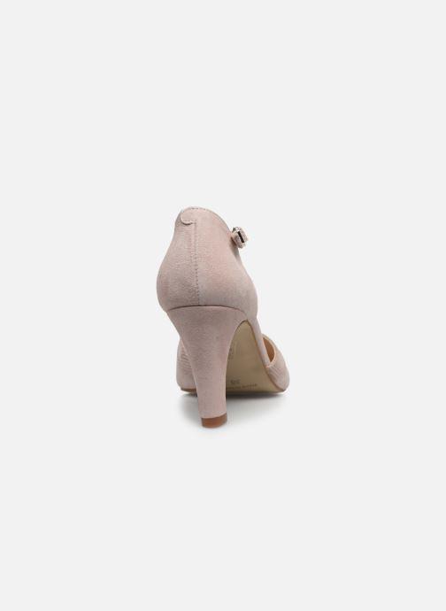 Zapatos de tacón Georgia Rose Sabousa Rosa vista lateral derecha