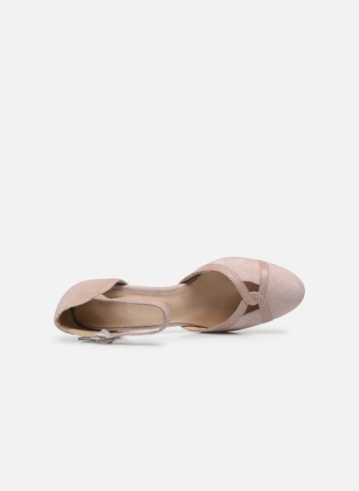 Zapatos de tacón Georgia Rose Sabousa Rosa vista lateral izquierda