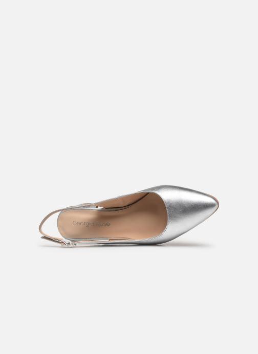 Zapatos de tacón Georgia Rose Slingpa Plateado vista lateral izquierda