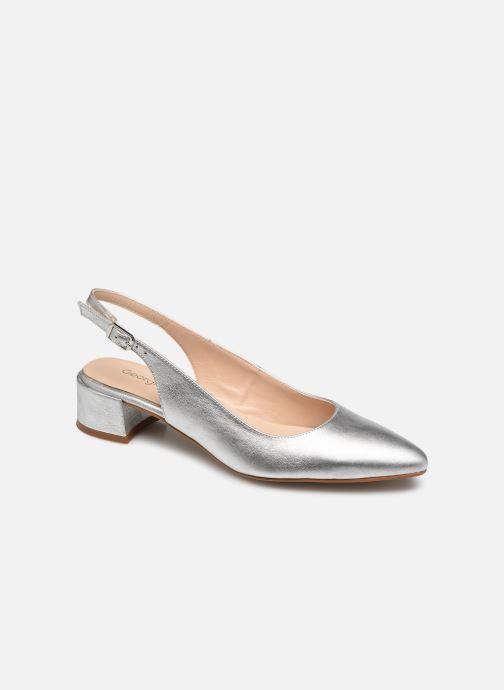 Zapatos de tacón Georgia Rose Slingpa Plateado vista de detalle / par