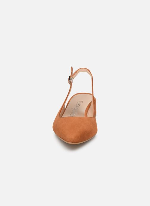 Escarpins Georgia Rose Slingpa Marron vue portées chaussures