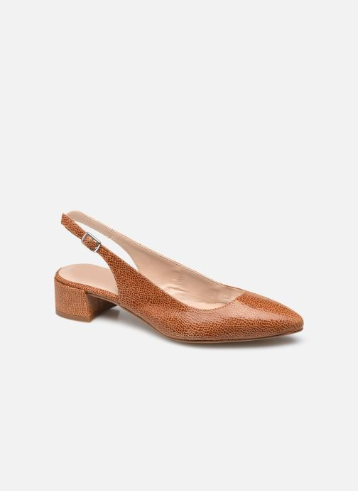 Zapatos de tacón Georgia Rose Slingpa Marrón vista de detalle / par