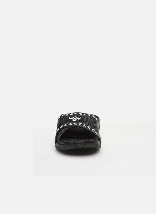 Sandali e scarpe aperte Hummel Cam Pool Slide Nero modello indossato