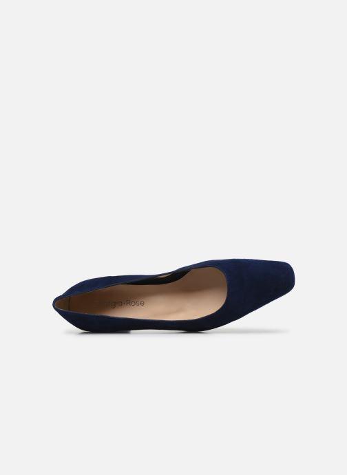Zapatos de tacón Georgia Rose Soft Sidina Azul vista lateral izquierda