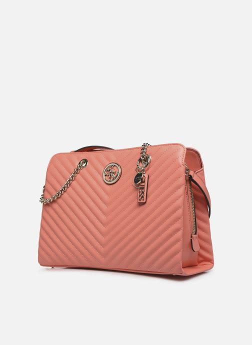 Sacs à main Guess BLAKELY LARGE  GIRLFRIEND SATCHEL Orange vue portées chaussures