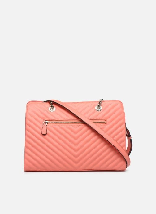 Sacs à main Guess BLAKELY LARGE  GIRLFRIEND SATCHEL Orange vue face