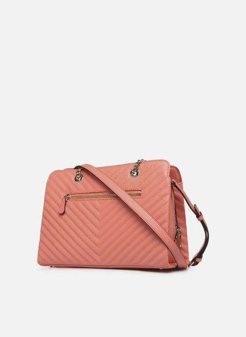 Sacs à main Guess BLAKELY LARGE  GIRLFRIEND SATCHEL Orange vue droite