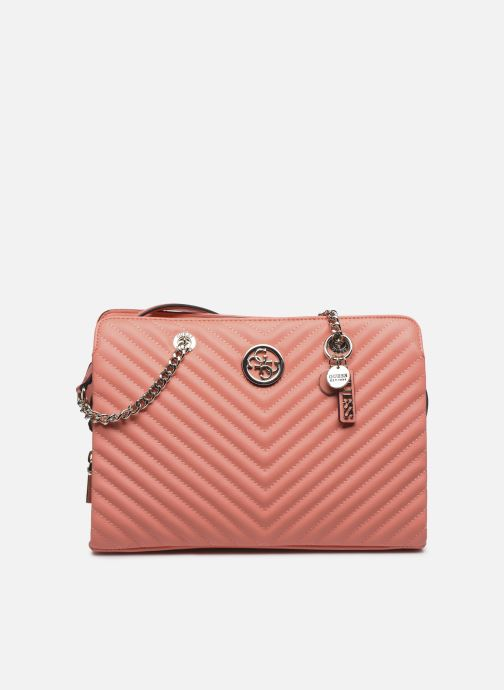 Sacs à main Guess BLAKELY LARGE  GIRLFRIEND SATCHEL Orange vue détail/paire