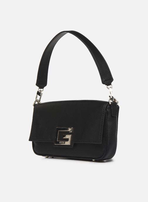Bolsos de mano Guess BRIGHTSIDE  SHOULDER BAG Negro vista del modelo