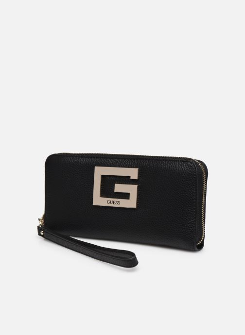 Bolsos de mano Guess BRIGHTSIDE SLG LARGER ZIP AROUND Negro vista del modelo
