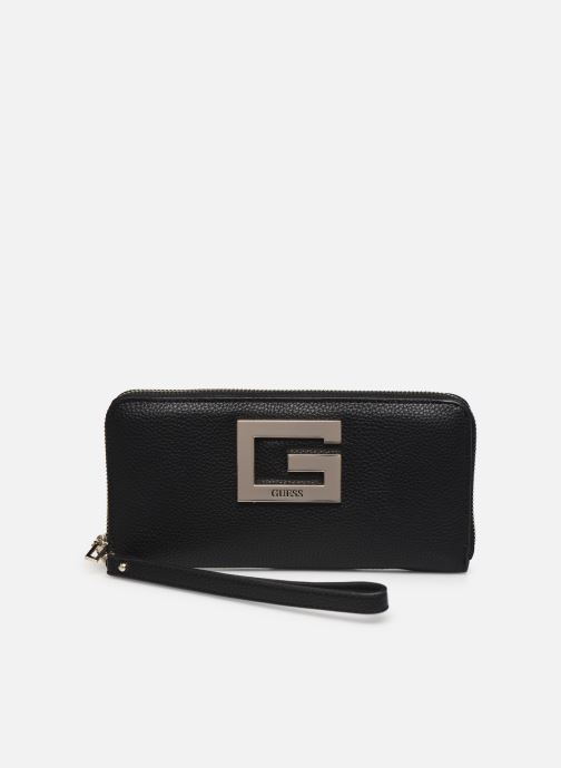 Bolsos de mano Guess BRIGHTSIDE SLG LARGER ZIP AROUND Negro vista de detalle / par