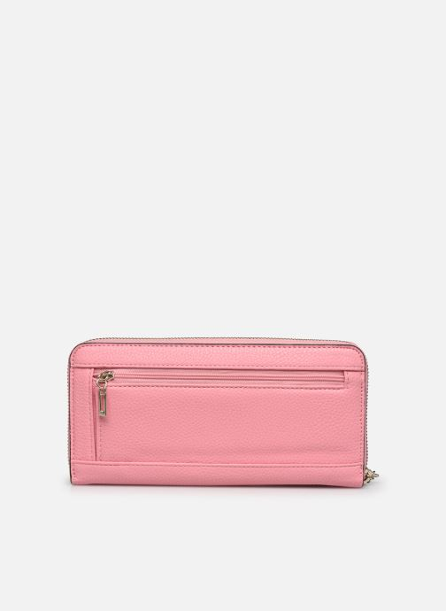 Borse Guess BRIGHTSIDE SLG LARGER ZIP AROUND Rosa immagine frontale
