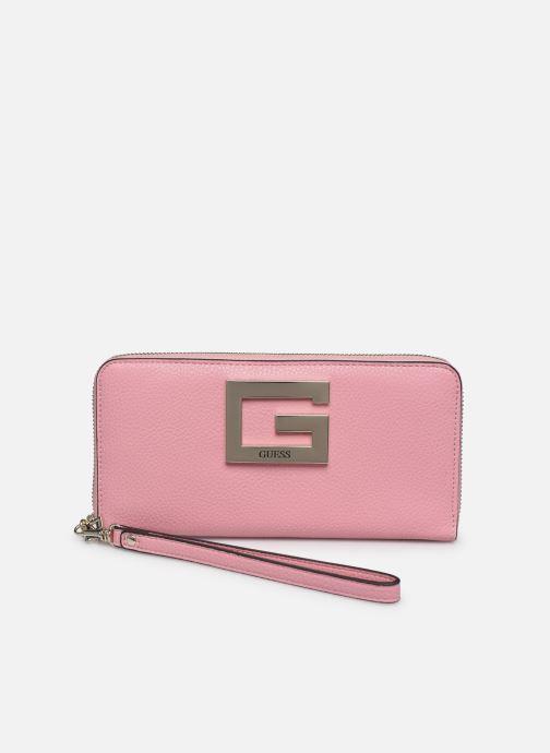 Bolsos de mano Guess BRIGHTSIDE SLG LARGER ZIP AROUND Rosa vista de detalle / par