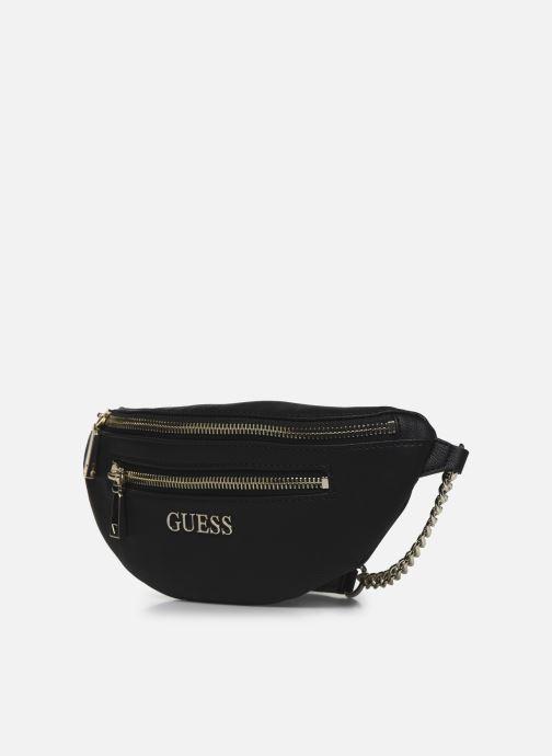 Petite Maroquinerie Guess CALEY MINI BELT BAG Noir vue portées chaussures