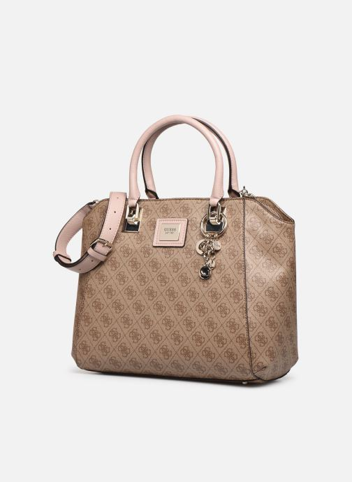 Borse Guess CANDACE ELITE  CARRYALL Marrone modello indossato