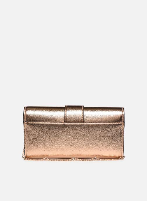 Handtassen Guess DAZZLE CLUTCH Goud en brons voorkant