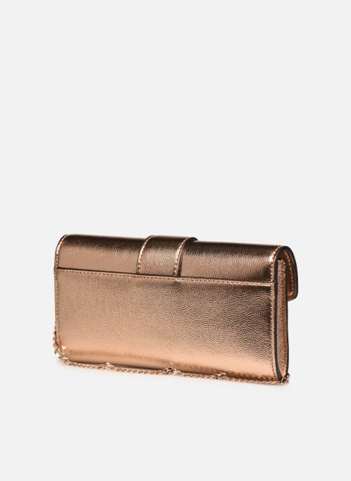 Handtassen Guess DAZZLE CLUTCH Goud en brons rechts