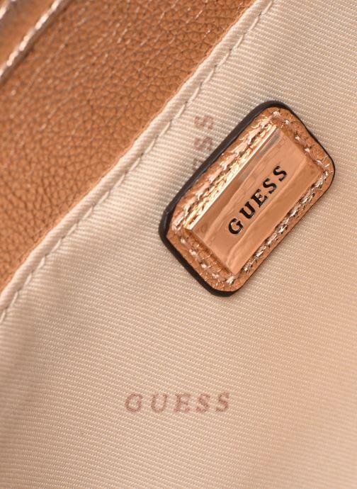 Handtassen Guess DAZZLE CLUTCH Goud en brons achterkant