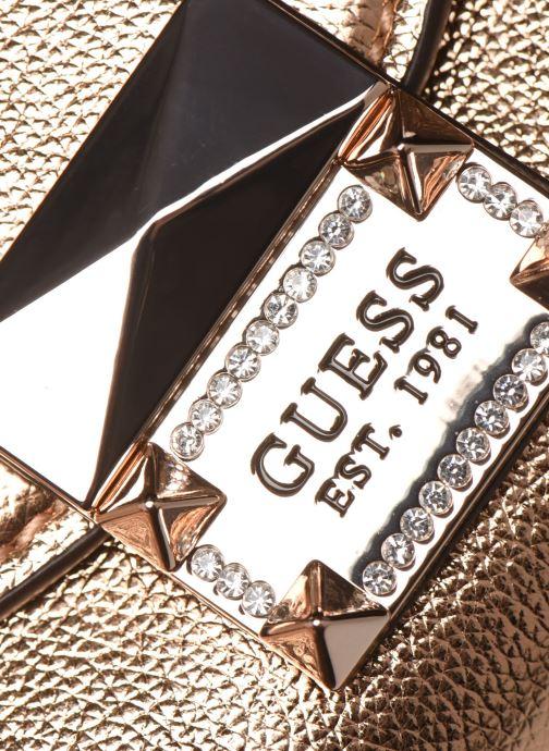 Handtassen Guess DAZZLE CLUTCH Goud en brons links
