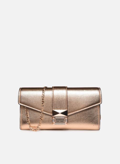 Handtassen Guess DAZZLE CLUTCH Goud en brons detail