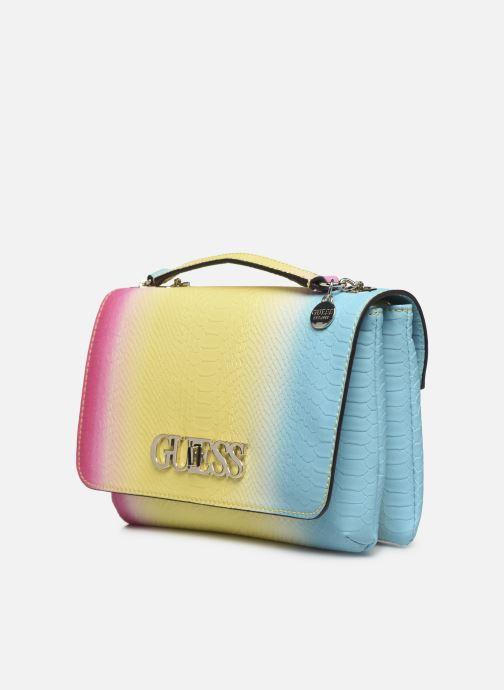 Borse Guess GUESS CHIC  CONVERTIBLE FLAP Multicolore modello indossato