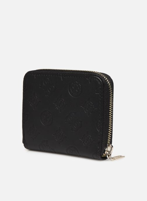 Petite Maroquinerie Guess LOGO LOVE SLG SMALL ZIP AROUND Noir vue droite