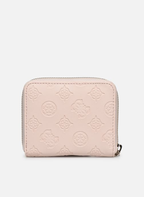 Petite Maroquinerie Guess LOGO LOVE SLG SMALL ZIP AROUND Rose vue face