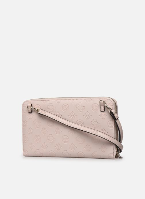 Bolsos de mano Guess LOGO LOVE SLG TRAVEL WALLET Rosa vista lateral derecha