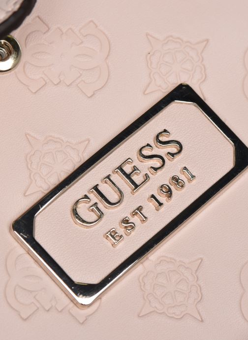 Bolsos de mano Guess LOGO LOVE SLG TRAVEL WALLET Rosa vista lateral izquierda