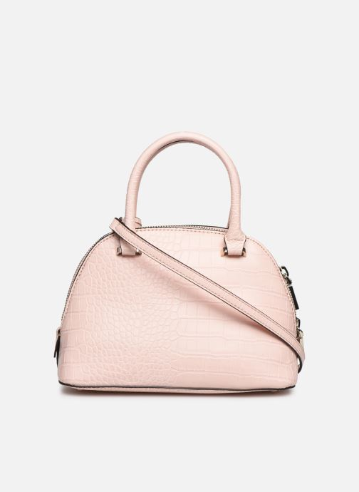 Bolsos de mano Guess MADDY SMALL DOME SATCHEL Rosa vista de frente