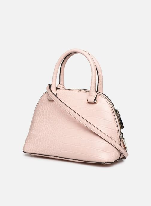Bolsos de mano Guess MADDY SMALL DOME SATCHEL Rosa vista lateral derecha